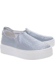 Slip On Flatform Snake Blue