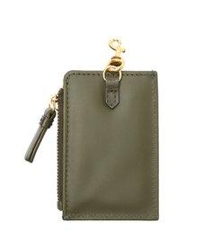 Porta-Cartões Emblem Couro Verde-Militar