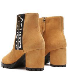 Ankle Boot Tratorada Logo Suede Brown