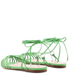 Flat Strings Lace-Up Pop Green