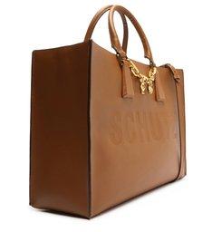 Bolsa Shopping Grande Bardot Couro Marrom