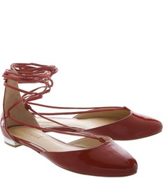 Sapatilha Lace Up Scarlet