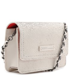 Crossbody Lorena Snake Glam White
