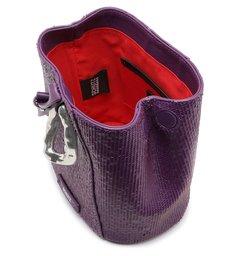Bucket Bag Ully Bright Snake Purple