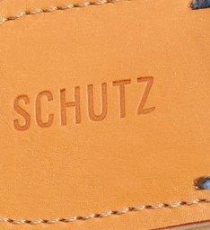 Rasteira de X Slide Logo Schutz Azul