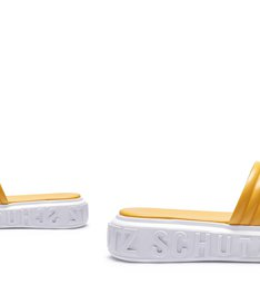 SLIDE BOLD LEATHER YELLOW