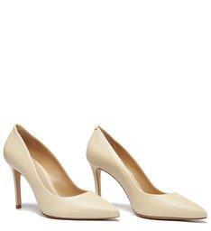Sapato Scarpin Stiletto Couro Creme