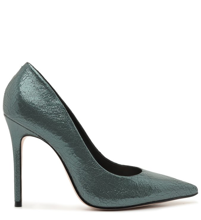 Scarpin Cracked Metallic Green | Schutz