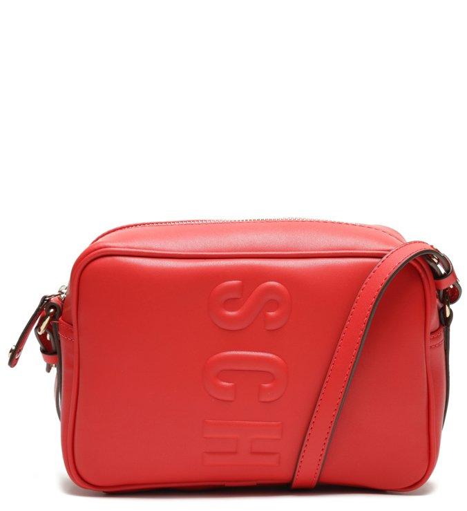 Bolsa Tiracolo Logo Tassy Vermelha