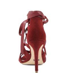 Sandália Sexy Lace Up Red Wine