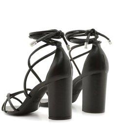 Sandália Strings Lace-up Black