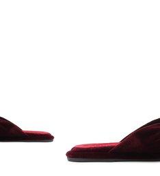 [On Demand] Homewear Flat Flip Flop Sarah Velvet Wine