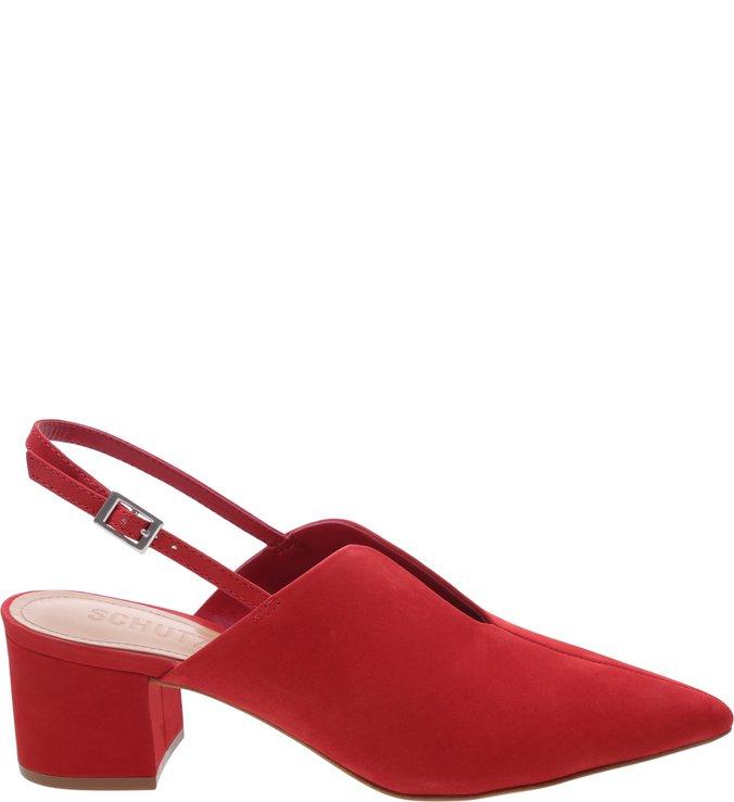 Mule Slingback Block Heel Cava Red