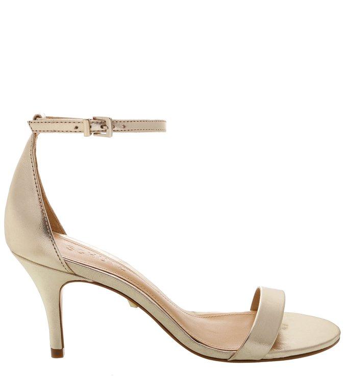 Sandália Gisele Mid Heel Platina | Schutz
