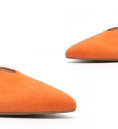 Flat Mule Nobuck Orange