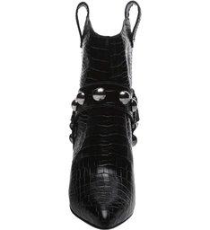 Ankle Boot Rock Western Croco Black