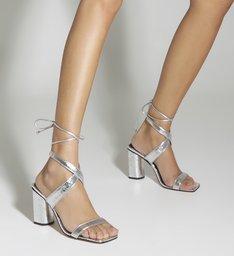 Sandália Curves Metallic Prata