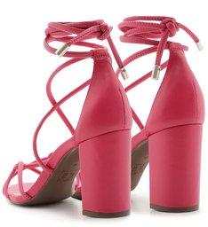 Sandália Strings Lace-up Pink