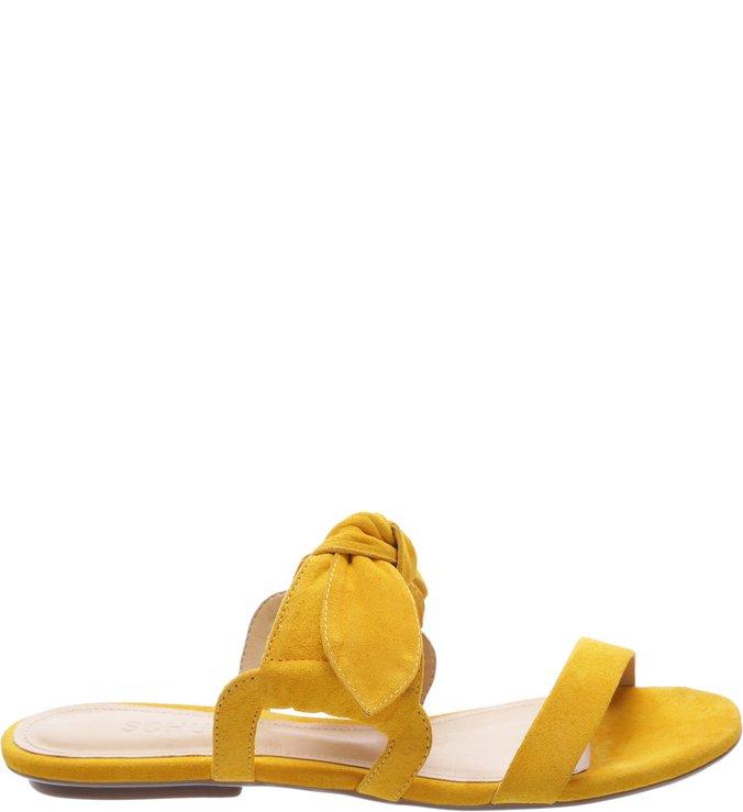 Rasteira Sweet Nobuck Laço Yellow | Schutz