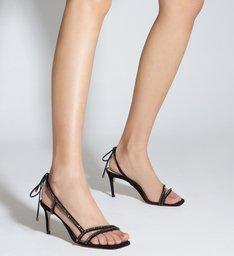 Sandália Glam Mid Heel Black