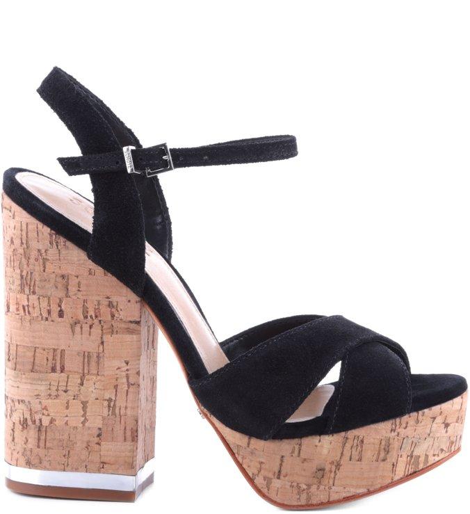 Sandália Salto Cortiça Black