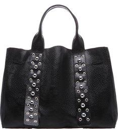 Shopping Bag Metallic Balls Black