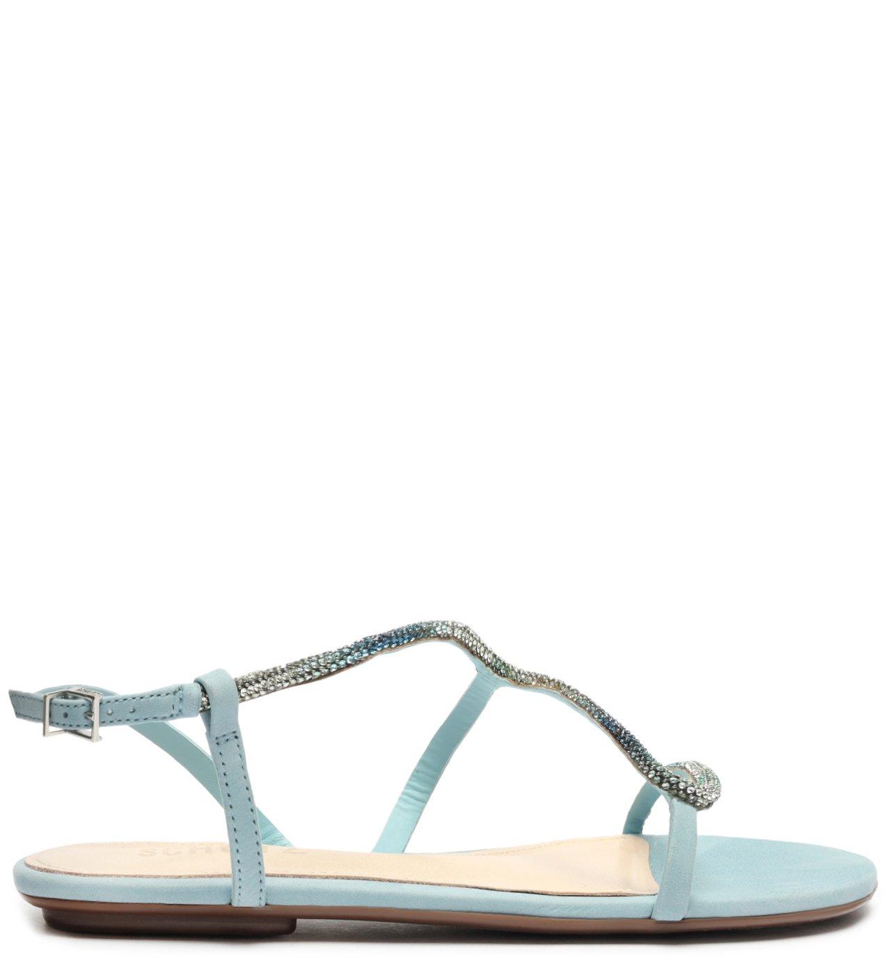 Sandália Rasteira Curves Glam Blue | Schutz