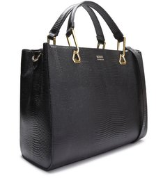 Mini Tote String Strap Black