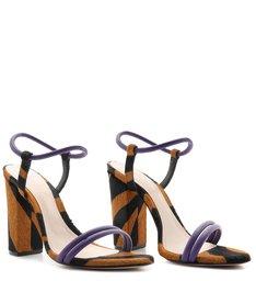 Sandália Salto Zebra Soft Purple