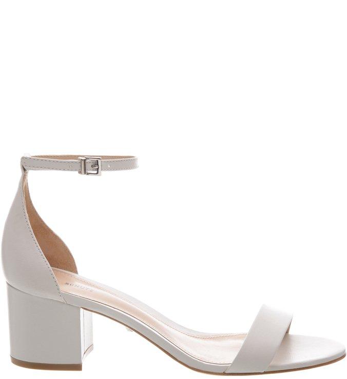 Sandália Minimal Block Heel White | Schutz