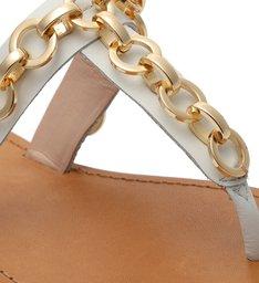 Sandália Rasteira Chains White