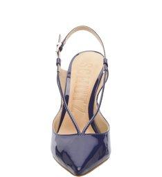 Scarpin Thin Strap Verniz Dress Blue