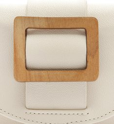 POCHETE BUCKLE WOOD WHITE
