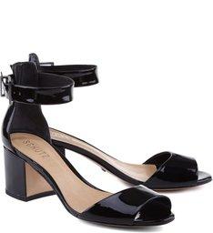 Sandália Salto Médio Quadrado Black