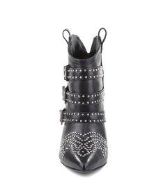 Bota Western Studs High Heel Black