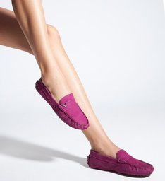 Sapato Mocassim Triangle Nobuck Violeta