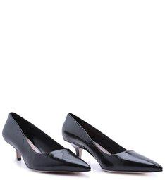 Scarpin KItten Heel Glossy Black