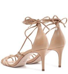 Sandália Mid Heel Lace-Up Strings Honey