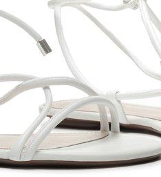 Sandália Rasteira Strings White