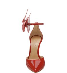 Scarpin Maxi Bow Verniz Red