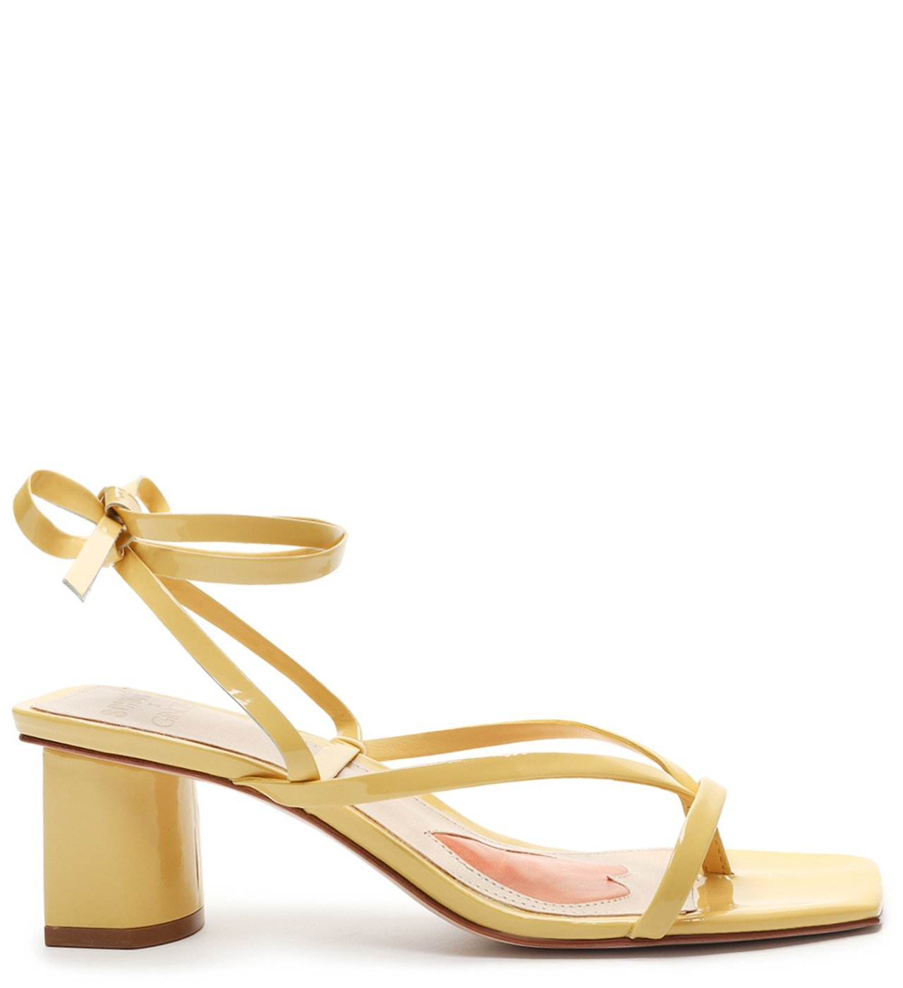 Schutz X Ginger Sandália Block Heel Lace-Up Yellow | Schutz