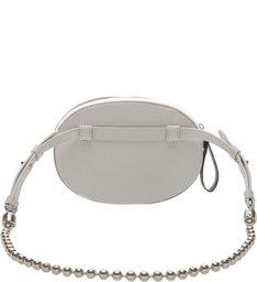 Belt Bag Leather Hardware Pearl