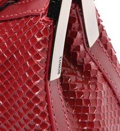 Bolsa Tiracolo Pequena Tessa Couro Snake Vermelha