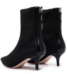 Sock Boot Kitten Heel Black