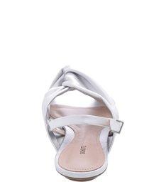 Sandália Rasteira Metalic Silver
