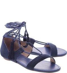Flat Tassel Dress Blue