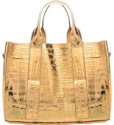Shopping Bag Maxi Golden Croco