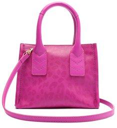 Bolsa Baby Tote Pequena Agnes Couro Pink