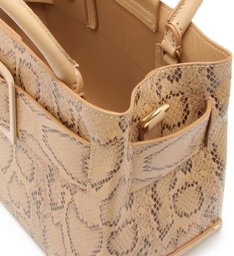 Buckle Bag Tote Snake
