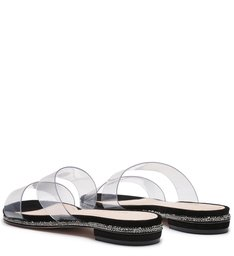 Slide Vinil Crystal Glam Black
